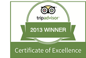 Trip Advisor - Recommended 2013